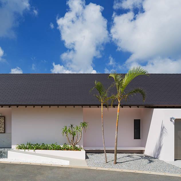 座喜味のヴィラ 日本家屋・アジアの家 の 岡部義孝建築設計事務所 和風