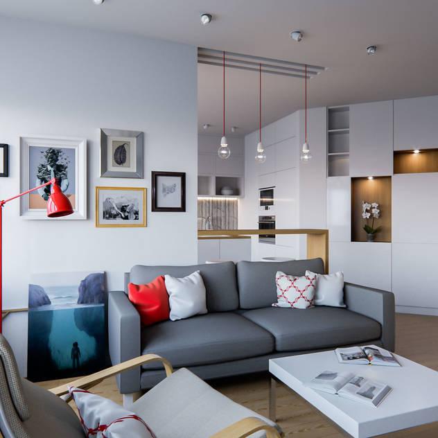 Soggiorno in stile scandinavo di Kristina Petraitis Design House Scandinavo