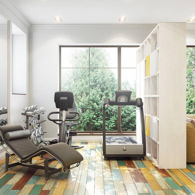 Bronx: eklektik tarz tarz Fitness Odası