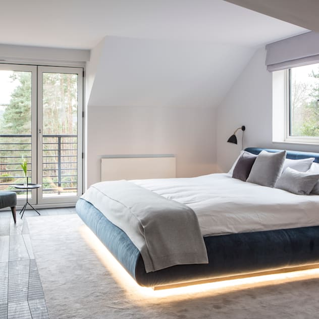 Private Residence, Surrey: modern Bedroom by Nice Brew Interior Design