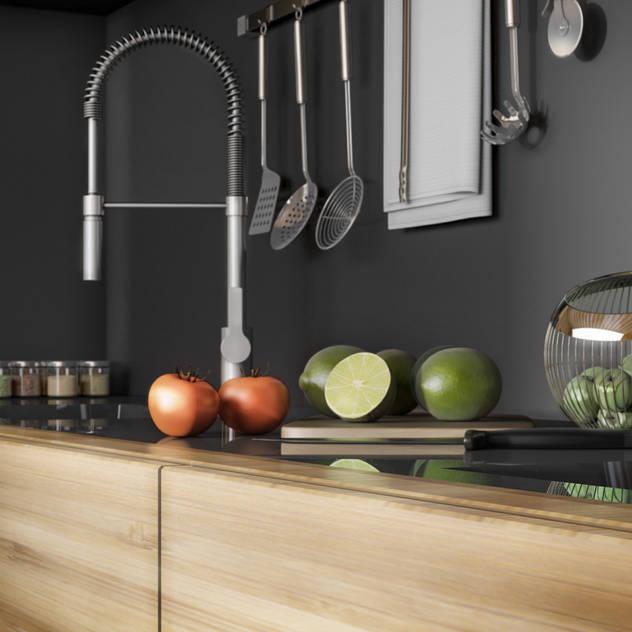 Ali İhsan Değirmenci Creative Workshop – Modern Wooden House (Modern Ahşap Ev): modern tarz Mutfak