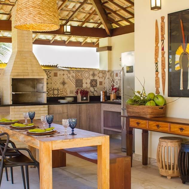 Varanda Gourmet: Terraços por Jamile Lima Arquitetura