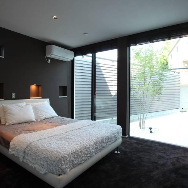 Phòng ngủ phong cách hiện đại bởi TERAJIMA ARCHITECTS Hiện đại