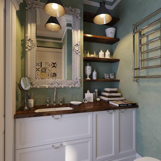 Banheiros industriais por Aiya Lisova Design
