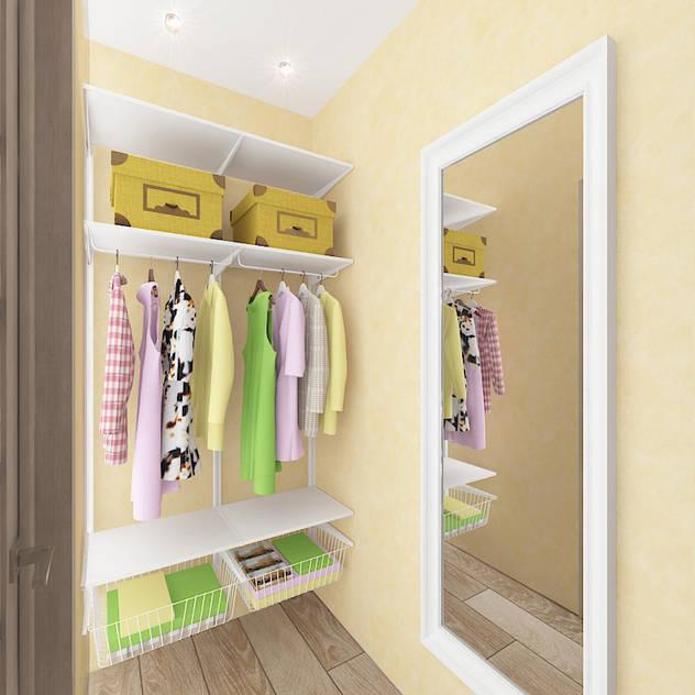 Vestidores y placares de estilo ecléctico por Design Rules