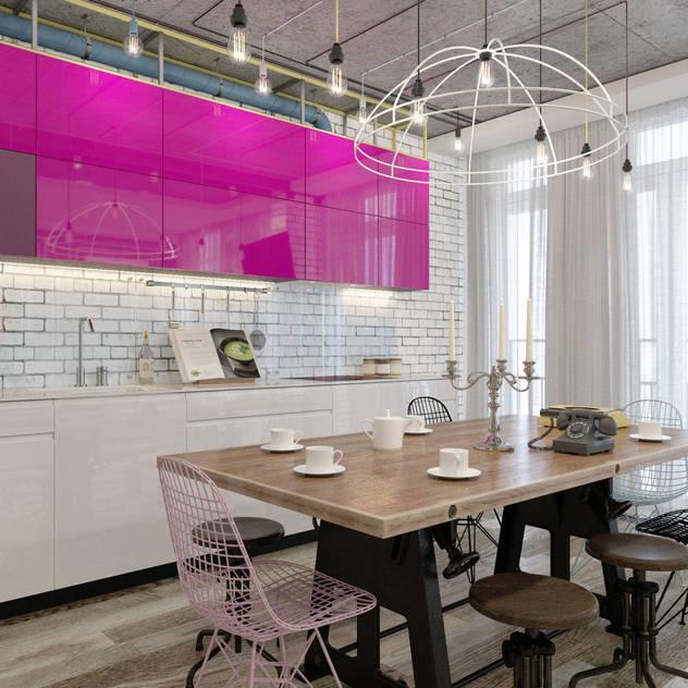 Cocinas de estilo ecléctico por Kornienko-Partners