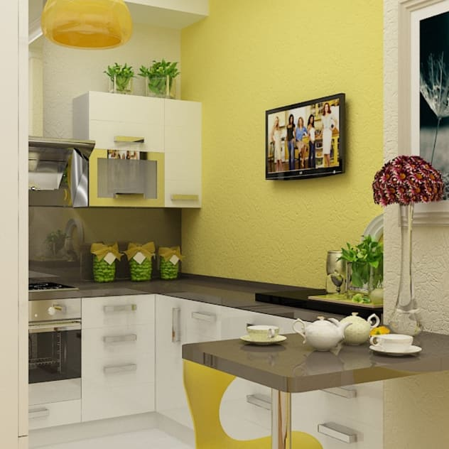 Cucina minimalista di Дизайн студия Марины Геба Minimalista