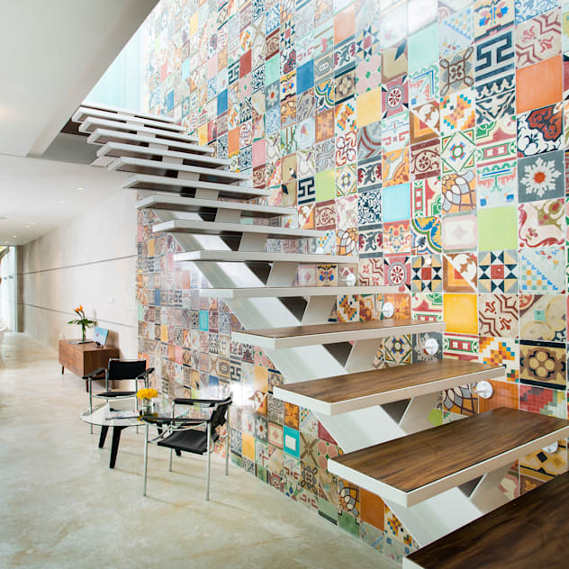 Hành lang, sảnh & cầu thang phong cách hiện đại bởi HPONCE ARQUITECTOS Hiện đại