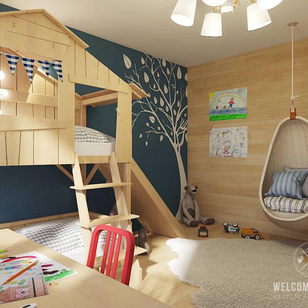 Chambre d'enfant de style de style eclectique par Мастерская дизайна Welcome Studio