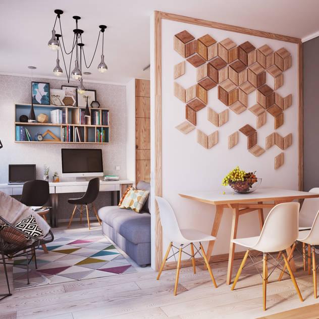 ห้องนั่งเล่น by Polygon arch&des