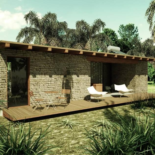 Cinco casas mexicanas hechas con materiales econ micos for Materiales para la construccion de un vivero