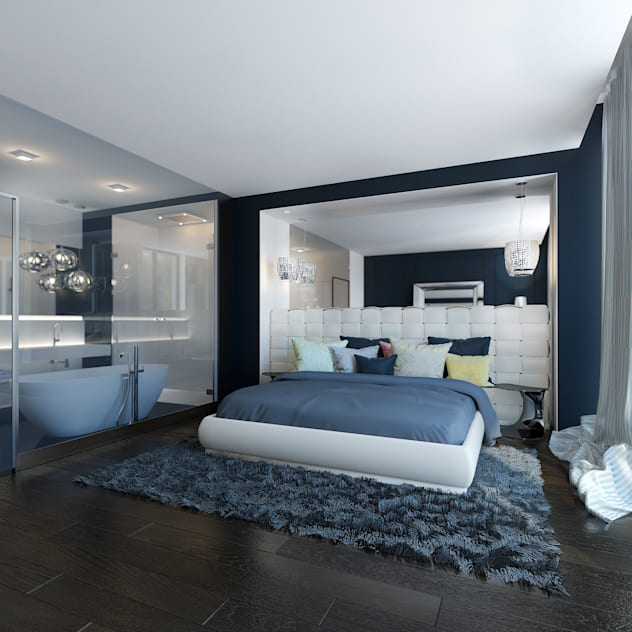 Modern style bedroom by ZR-architects Modern