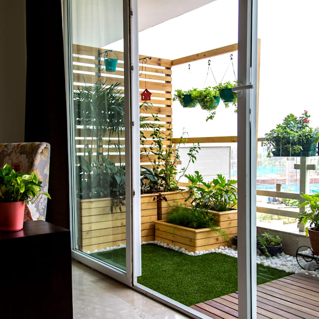 Terrazas de estilo por Studio Earthbox- neuroarquitectura introduciendo plantas