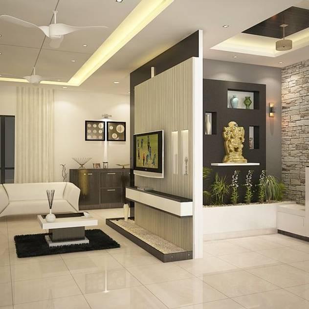 Salas de estar modernas por ACE INTERIORS