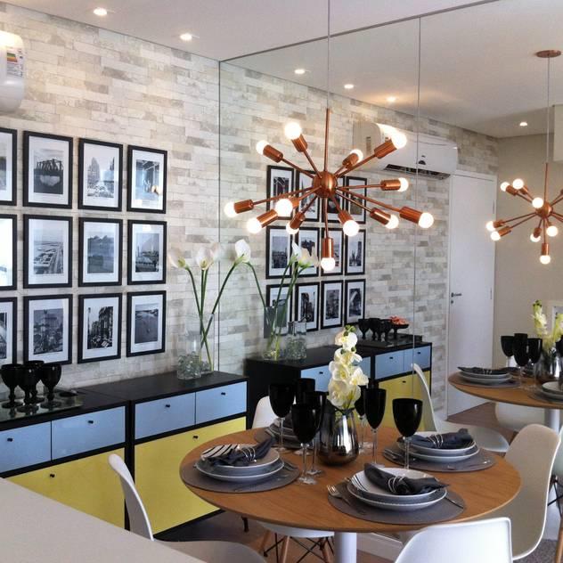 Comedores de estilo de Fabiana Rosello Arquitetura e Interiores