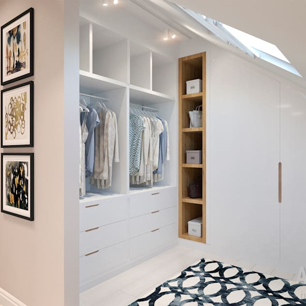 Vestidores y placares de estilo ecléctico por Студия авторского дизайна ASHE Home