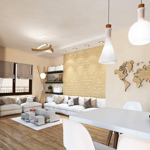 Contemporary Interior for an apartment, Sofia Soggiorno in stile scandinavo di Inspiria Interiors Scandinavo