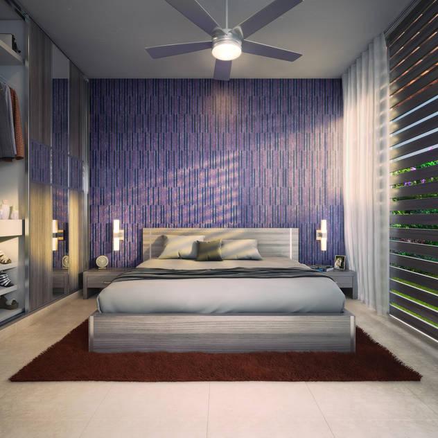 modern Bedroom by Lights & Shades Studios