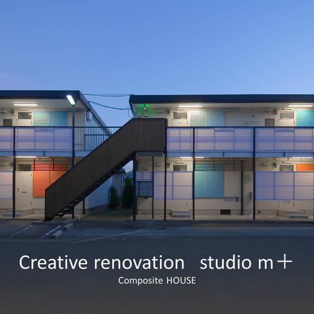 夜の外観 北欧風 家 の studio m+ by masato fujii 北欧