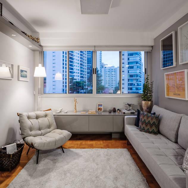 Apartamento Tutóia Salas de estar modernas por Alvorada Arquitetos Moderno