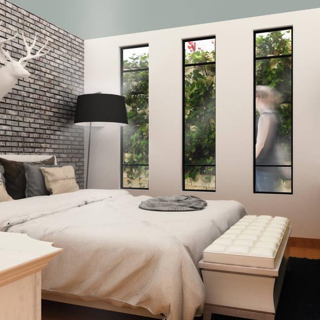SANT1AGO arquitectura y diseño Modern style bedroom White