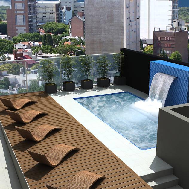 Hồ bơi phong cách hiện đại bởi Arcadia Arquitectura Hiện đại