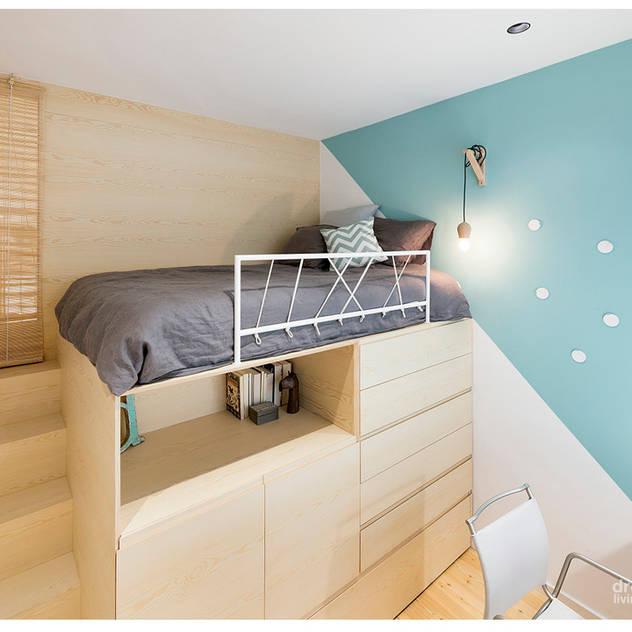 Phòng ngủ phong cách Bắc Âu bởi Dröm Living Bắc Âu