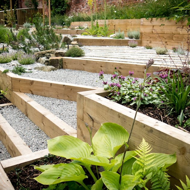 Modern Garden with a rustic twist: modern Garden by J B Landscapes LTD
