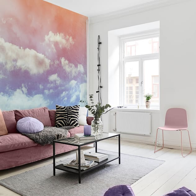Pastel clouds Eclectic style living room by Pixers Eclectic