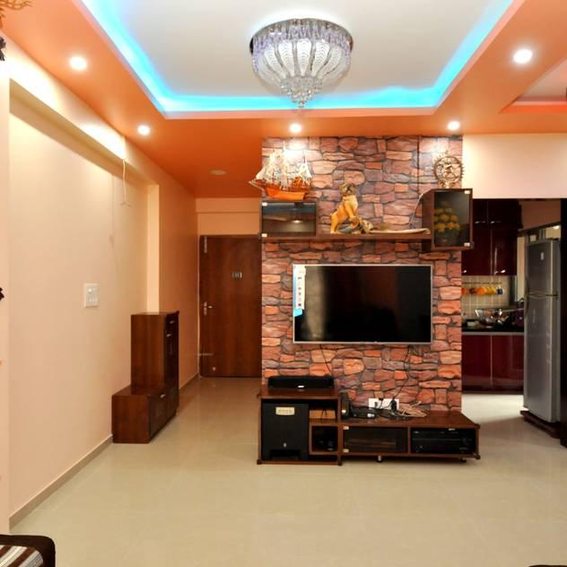 Salas de estar modernas por Kriyartive Interior Design