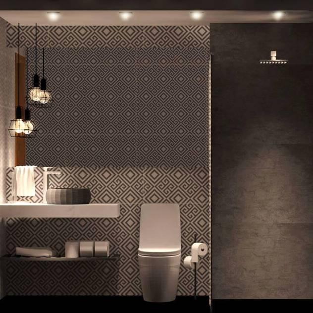Um toque industrial : Banheiros industriais por Folle arquitetura