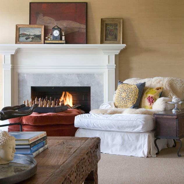 Andrea Schumacher Interiors: klasik tarz tarz Oturma Odası