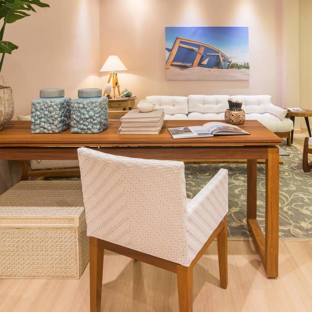 Mostra Mac Trends: Salas de estar tropicais por Duo Arquitetura