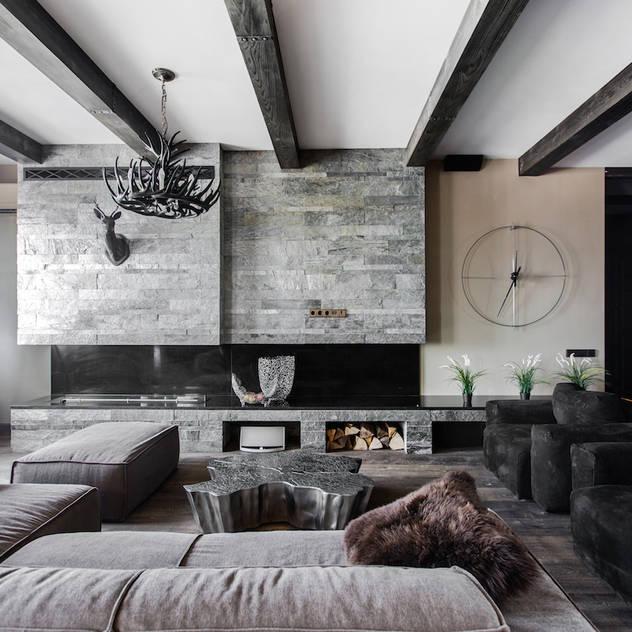 rustic Living room by Дизайн Мира