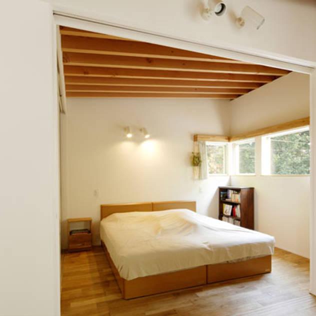 Phòng ngủ phong cách hiện đại bởi 株式会社Fit建築設計事務所 Hiện đại Gỗ Wood effect