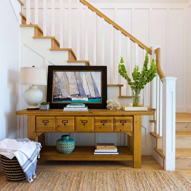 Chibi Moku Architectural Films Modern Corridor, Hallway and Staircase Concrete White