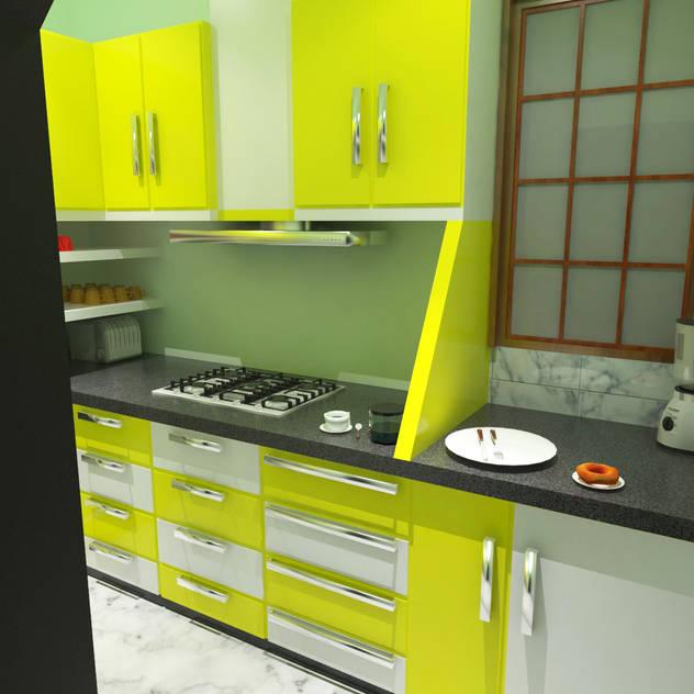 Modular Kitchen Modern kitchen by EBEESDECOR Modern Plastic