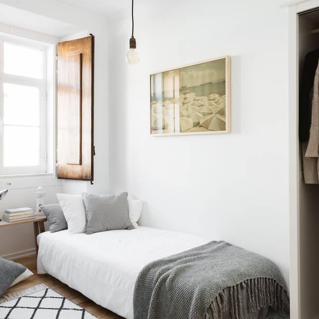 Phòng ngủ phong cách Bắc Âu bởi Arkstudio Bắc Âu