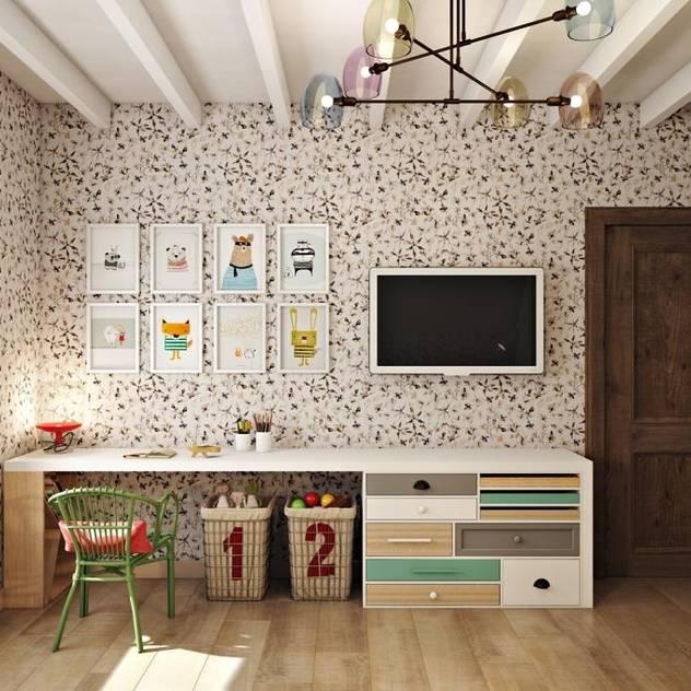 Phòng trẻ em phong cách đồng quê bởi Дизайн студия Алёны Чекалиной Đồng quê