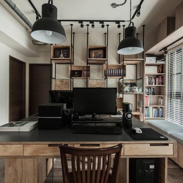 Phòng học/văn phòng phong cách công nghiệp bởi 丰墨設計 | Formo design studio Công nghiệp