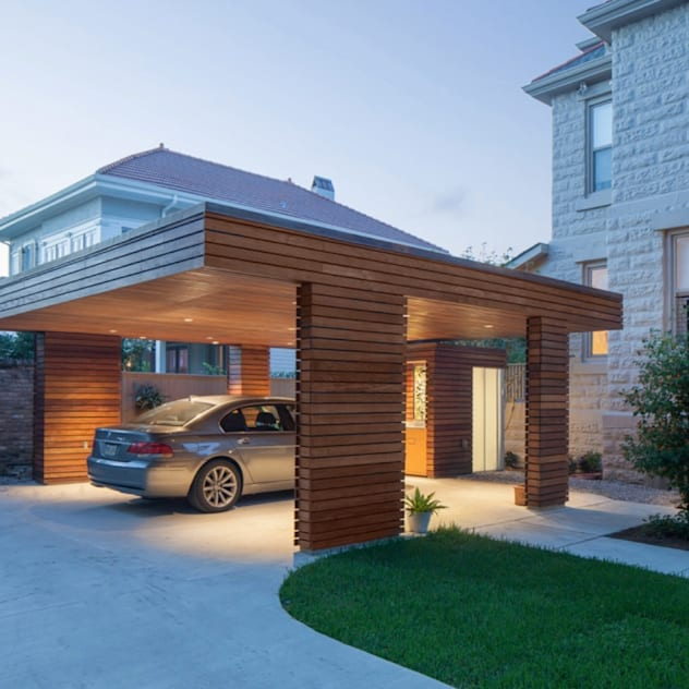 Nhà để xe/nhà kho phong cách hiện đại bởi studioWTA Hiện đại