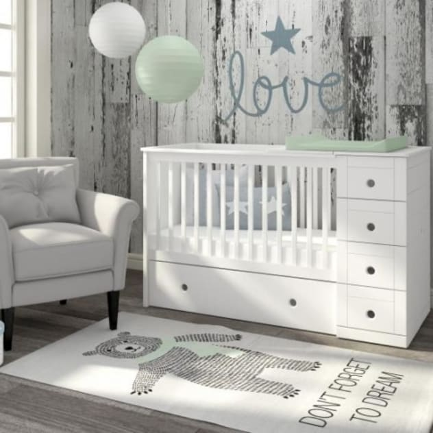 3 in 1 Cot bed bởi homify Kinh điển Gỗ Wood effect