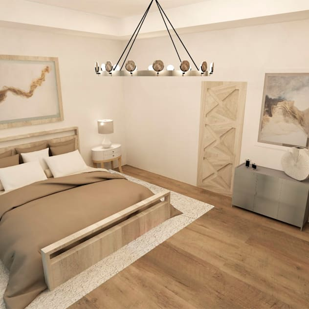 TAMEN arquitectura Modern style bedroom