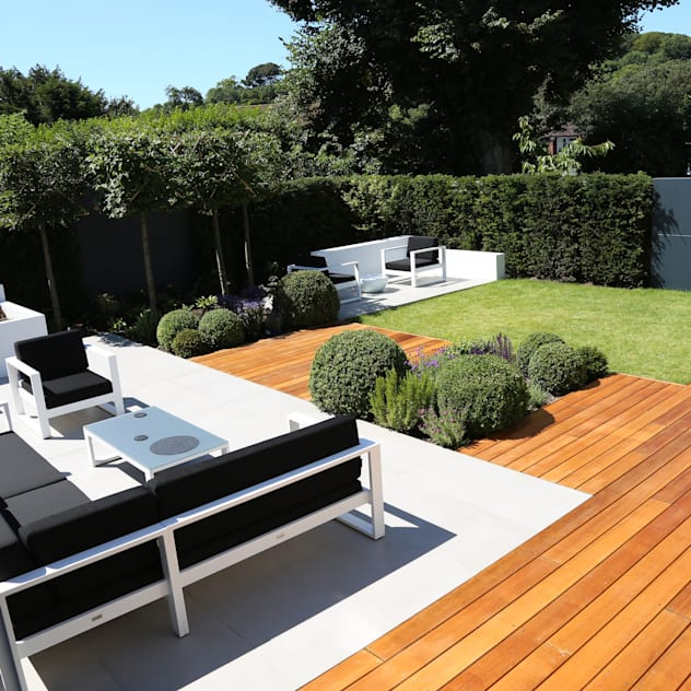 Outdoor Room: modern Garden by Borrowed Space