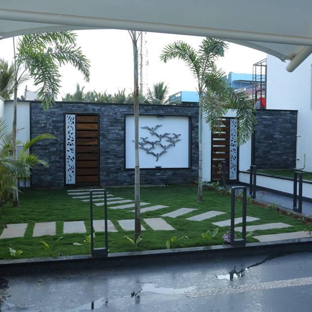 Jardins modernos por Hasta architects