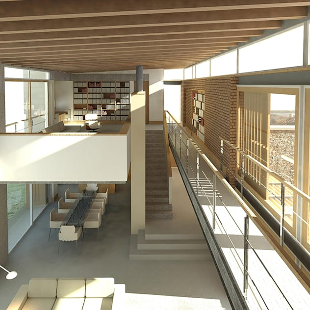 JONKERSHOEK ROAD, STELLENBOSCH: modern Living room by Gallagher Lourens Architects