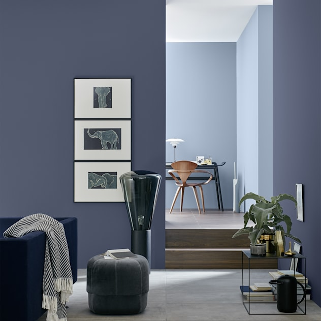 SCHÖNER WOHNEN-FARBE Modern living room Blue