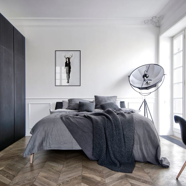 Phòng ngủ phong cách tối giản bởi INT2architecture Tối giản