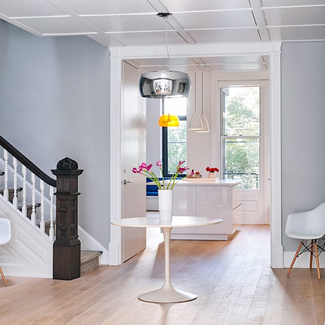 Park Slope Townhouse Modern Corridor, Hallway and Staircase by Sarah Jefferys Design Modern