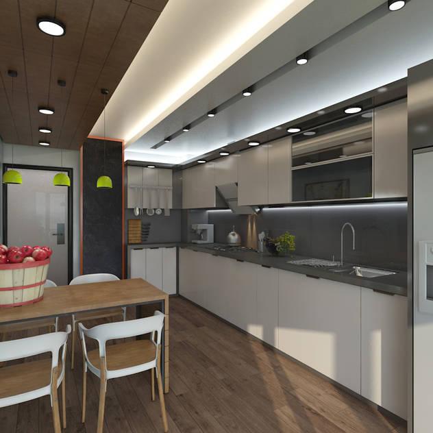 Cucina moderna di Meteor Mimarlık & Tasarım Moderno